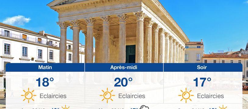 Météo Nîmes: Prévisions du mercredi 21 octobre 2020