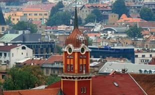La ville de Sarajevo en Bosnie. Image d'illustration.