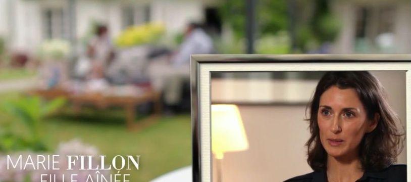 Marie Fillon, lors de l'émission «Une ambition intime» qui faisait le portrait de son père François Fillon.