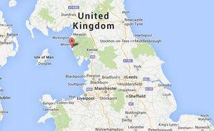 Google map de Sellafield (Angleterre).