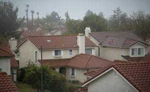Un des quartiers de Porter Ranch (Californie) où de nombreux habitants ont quitté leur maison après une fuite massive de gaz naturel, dans la vallée de San Fernando, près de Los Angeles, le 22 décembre 2015.
