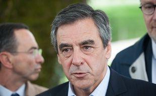 François Fillon, candidat à la primaire, le 13 juin 2016 à Notre-Dame des-Landes (Pays de la Loire).