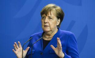 Angela Merkel, la chancelière allemande, ce lundi à Berlin.
