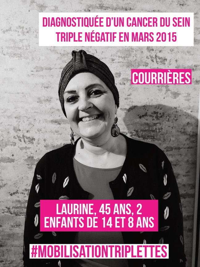Laurine participe à une campagne de sensibilisation sur les réseaux sociaux sur le cancer du sein triple négatif.