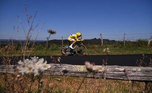 Julian Alaphilippe lors du contre-la-montre du Tour de France.