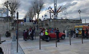 Les pompiers d'Auch sont intervenus à la fête foraine d'Auch après l'arrêt d'urgence d'un manège.