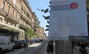 La nouvelle rue Bayard présente des trottoirs élargis et de nombreux arbres.