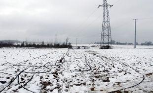 Quelque 33.000 foyers sont encore privés d'électricité en Rhône-Alpes après les premières chutes de neige, jeudi 14 novembre 2019.