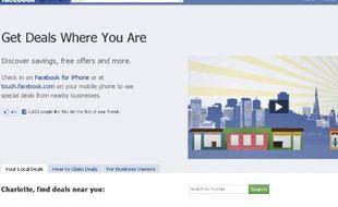 Facebook Deals, nouvelle fonctionnalité de Facebook lancée en France le 31 janvier 2011
