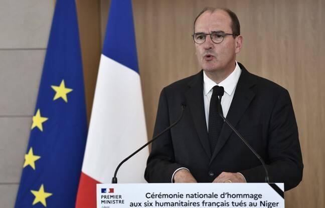 <div>Humanitaires tués au Niger: «La France toute entière porte le deuil de vos enfants», déclare Jean Castex lors de la cérémonie d'hommage</div>