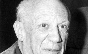 Photo d'archives datant d'avril 1959 et montrant l'artiste espagnol Pablo Picasso.