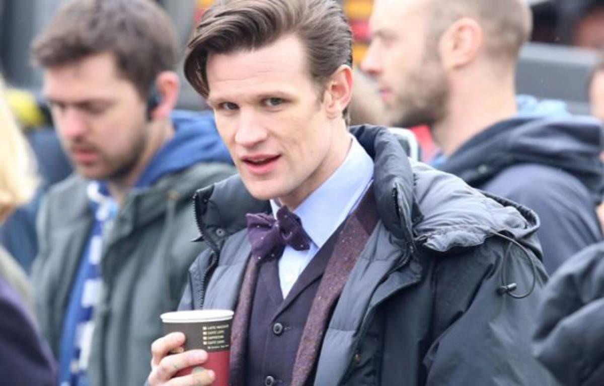L'acteur Matt Smith, sur le tournage de la série «Doctor Who», à Londres, le 9 avril 2013. – Rex Features/REX/SIPA