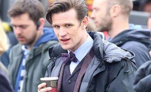 L'acteur Matt Smith, sur le tournage de la série «Doctor Who», à Londres, le 9 avril 2013.