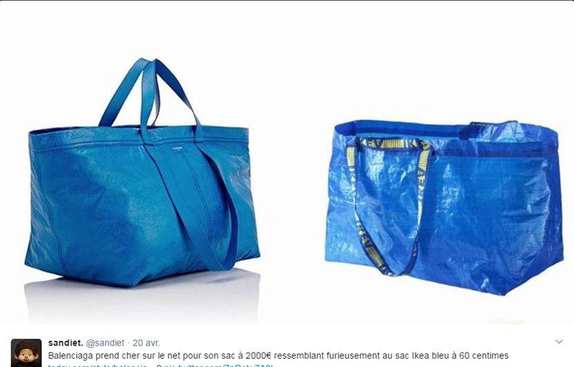 Ikea s amuse de la ressemblance d un sac Balenciaga à 1.695 euros avec son  cabas en plastique à 80 centimes 2129607092c