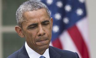 Le président américain, Barack Obama, à la Maison Blanche, à Washington,le 28 avril 2015.