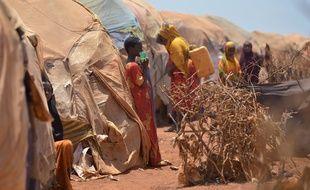 Un camp de réfugiés à Baidoa, au sud-ouest de la Somalie le 14 mars 2017.