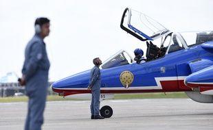 Un Alphajet de l'Armée de l'Air.