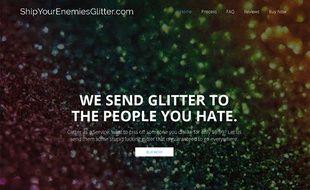 Capture d'écran du site shipyourenemiesglitter.com, mis en vente trois jours après sa mise en ligne.