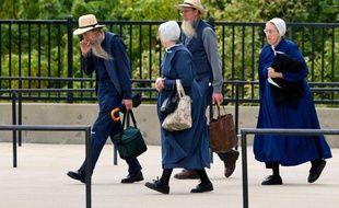 Des membres de la communauté amish à Cleveland, le 19 septembre 2012.