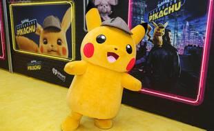 La figurine de Pikachu pour une avant-première de Détective Pikachu en mai 2019 à New York