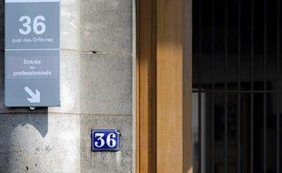 L'entrée du siège de la police judiciaire de Paris au 36 quai des Orfèvres, le 1er août 2014