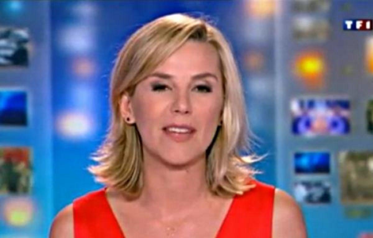 La présentatrice Laurence Ferrari, lors de son dernier 20H, sur TF1, le 31 mai 2012. – DR