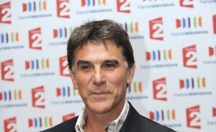 L'animateur Tex photographié le 5 septembre 2011 à Paris, lors de la conférence de présentation des grilles de rentrée de la chaîne publique de télévision, France 2.