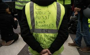 Un «Gilet jaune» lors de la manifestation du 15 décembre 2018 à Toulouse.