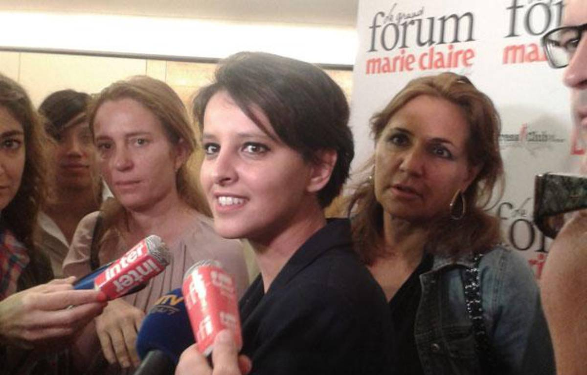 Najat Belkacem, ministre des Droits des femmes, le 7 juin 2012 au Grand Forum «Marie-Claire» consacré aux violences sexuelles faites aux femmes.  – Claire Béziau / 20 MINUTES