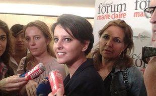 Najat Belkacem, ministre des Droits des femmes, le 7 juin 2012 au Grand Forum «Marie-Claire» consacré aux violences sexuelles faites aux femmes.