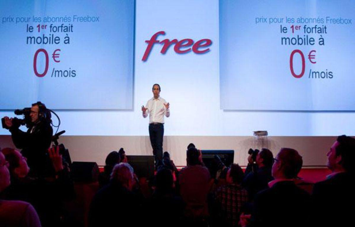 Xavier Niel, PDG de Free, mardi 10 janvier 2012 – PRM/SIPA