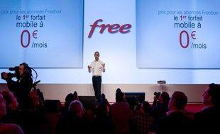 Xavier Niel, PDG de Free, mardi 10 janvier 2012