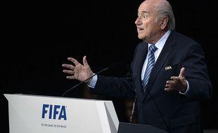 Le président de la Fifa Sepp Blatter, le 29 mai 2015.