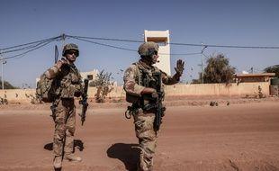 Des militaires français de la force Barkhane, au Mali le 11 février 2021.