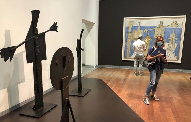Oeuvre de l'exposition Picasso Baigneuses et baigneurs.
