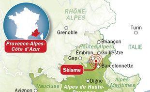 Infographie du séisme du lundi 7 avril 2014