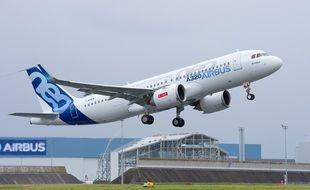 Le vol d'essai se fera sur un A320neo. Illustration.