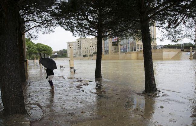 Inondations à Montpellier, le 28 novembre 2014.