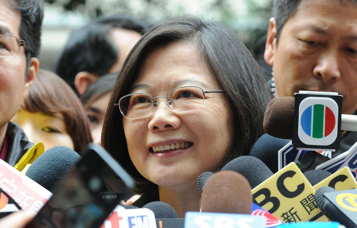 Tsai Ing-wen, candidate de l'opposition, a remporté la présidentielle taïwanaise le 16 janvier 2016. – Mitsuru Tamura/AP/SIPA