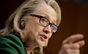 La secrétaire d'Etat américaine, Hillary Clinton, témoigne devant le Congrès, le 23 janvier 2013 sur l'attaque contre le consulat de Benghazi, le 11 septembre 2013.