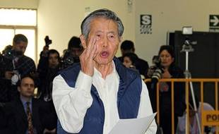 Alberto Fujimori le 25 septembre 2014 au tribunal à Lima