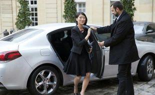 La ministre de la Culture Fleur Pellerin arrive à l'Hôtel Matignon, le 17 septembre 2015 à Paris