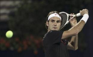 Le tennisman suisse Roger Federer, lors de la finale du tournoi de Dubaï, remportée face à Andy Murray, le 3 mars 2012.
