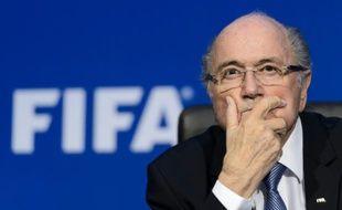 Le président de la Fifa Sepp Blatter lors d'une conférence de presse à Zurich le 20 juillet 2015