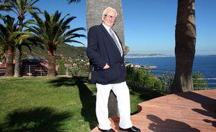 Pierre Cardin à Théoule-sur-Mer dans les Alpes Maritimes en 2008.
