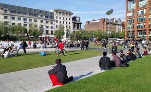 Mercredi, à Piccadilly square, à Manchester