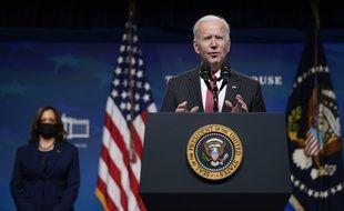 Le président américain Joe Biden à la Maison Blanche le 10 février 2021.