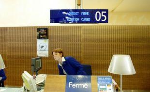 Illustration d'un guichet SNCF