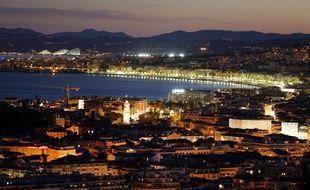 """Vue de la """"Baie des Anges"""", à Nice, le 29 juillet 2013 à Nice"""