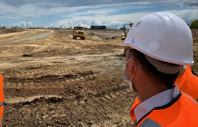 Le chantier de la zone commerciale nord de Strasbourg. Le 18 juin 2020.